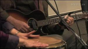 "These hands belong to Karen Savoca and Pete Heitzman. Click on the photo to watch them play along with Maura Kennedy on Maura's song ""Is It Just The Rain"" (Video courtesy of Simon Feldman, Hudson Valley Music Channel)"