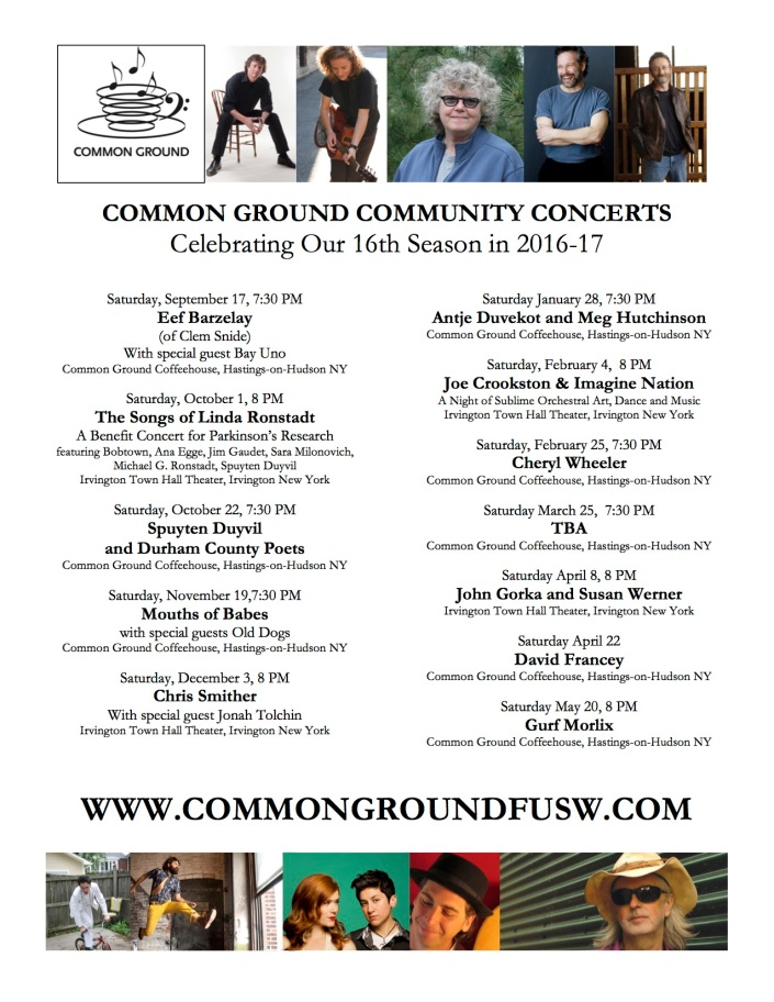 COMMON GROUND 18-17 CONCERTS